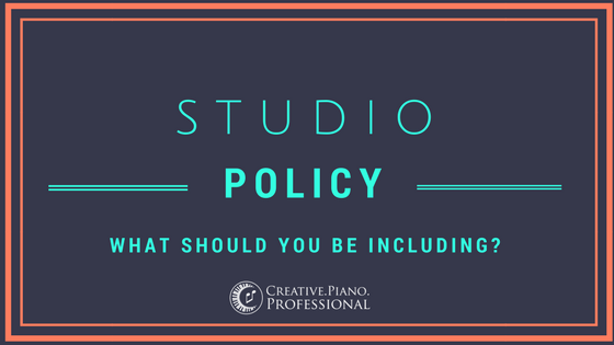 Developing a Studio Policy