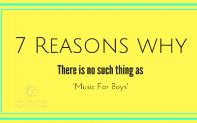 7 Reasons Why There Is No Such Thing as 'Music For Boys'!